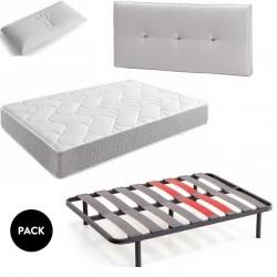 Pack D3 Cabezal+colchón+Somier+almohada