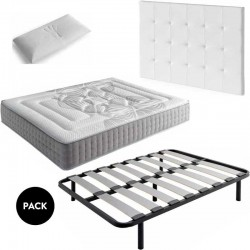 Pack D4 Cabezal+colchón+Somier+almohada