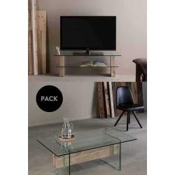 Mueble TV + mesa centro NADINE