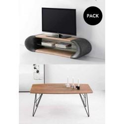 Mesa centro JACA + Mueble TV GISELE