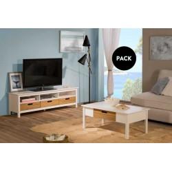 Mueble TV + mesa centro IBIZA