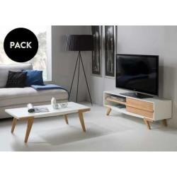Mueble TV + mesa centro MARTINA