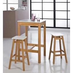 Mesa alta + 2 taburetes PETRA