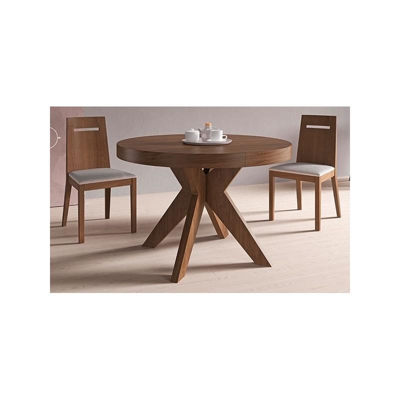 Mesa roma de pemi en arte h bitat for Mesa circular extensible